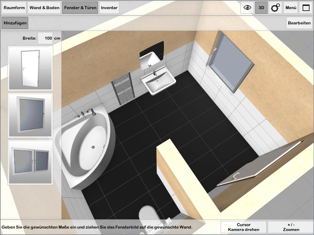 3d badplaner ambivision app for Raum gestalten app